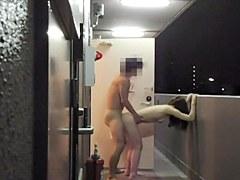 Asian Couple make love in bathroom 2014091802