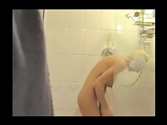 Voyeur cam catches Jane getting off in the shower
