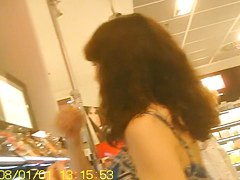 Oriental chick awesome up skirt legs on the voyeur camera