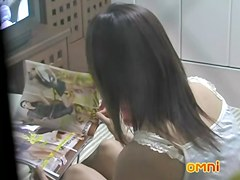 Sexy Japanese girl pussy and anal masturbation spied