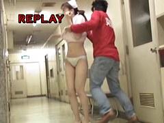 Merciless sharking for nurse in nice white lingerie