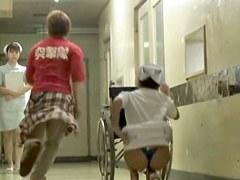 Enjoyable thong view of chubby nurse on sharking movie