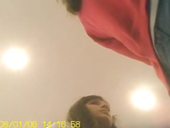 Upskirt hot girl is on the nasty video closeups
