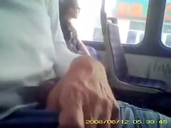 Lewd man wants sweet bus passenger see his hard dick