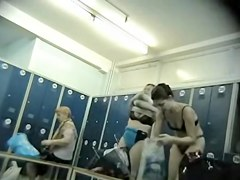 Candid voyeur changing room video from the swimming pool