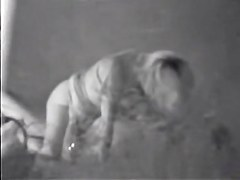 Voyeur sex clip of the amateur couple having sex at night