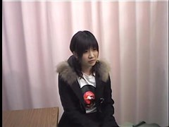 Charming Asian teen moaning from hidden cam gyno examination