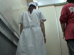 Sharked nurse left all alone in the lift