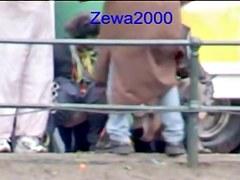 Man with voyeur camera shoots girls pissing in public