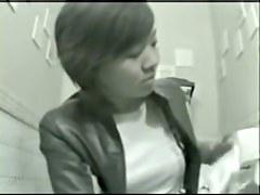 Toilet spy cam video of sweet teen pissing on bowl