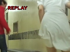 Japanese nurse panty uncovered while sharking