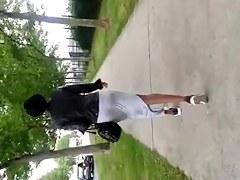 black ass on street