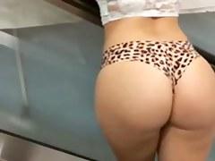 Got Ass? Promo Girl with a Juicy Phat Ass Posing