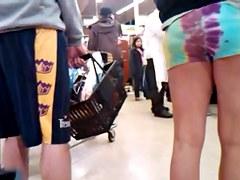 Candid Hippie Short Shorts Hottie