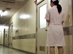 Sheer panty of the cute nurse is seen on sharking video