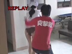 Black panty nurse is on the sharking video clip