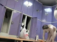 Nude girls looking right into the dressing room spy cam