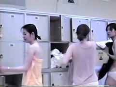 Locker room filled with gorgeous naked oriental charms
