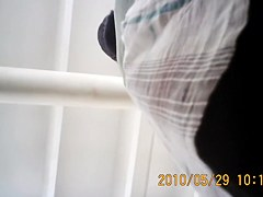 Nasty hunter goes crazy about upskirt white thong