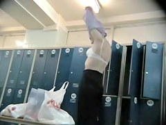 Milfs with sexy body goodies in a changing room spy movie
