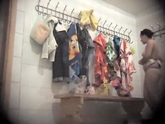 Dressing room girl is naked staying back to spy camera