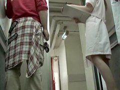 Kinky man did not fail to shark the nurse bottom