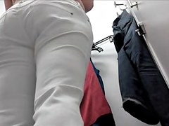 Fever from the view of full back panty ass in change room