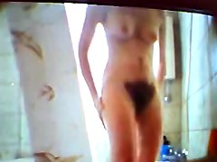 a real spy cam video from a very hairy girl in bathroom 1