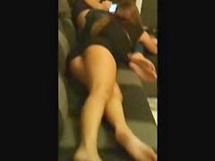 HUMM my friend shows her sexy ass in miniskirt, omg 3