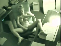 Hot spycam - Blonde masturbate and have  Orgasms at work.