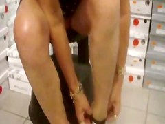Upskirt in Shoe Store BVR