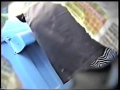 Stockings mature on toilet hidden cam pissing
