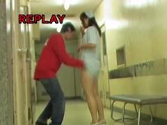 Very beautiful nurse panty seen on the sharking video