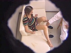 Kinky doc makes babe forget about shame on spy cam