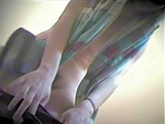 Girl in bikini and nude titted on dressing room spy cam vid