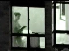 Girl nude body shapes look so hot voyeured in window