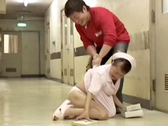 Sharking the japan nurse than fell down on the floor