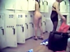 Hot and sexy ladies are getting naked in the locker room