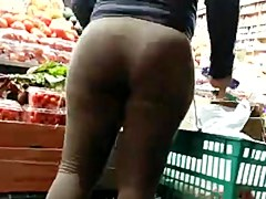 Candid brown spandex bubbled out milf donk of NYC