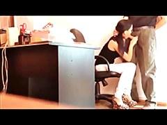 Novinha estagiaria garantindo o emprego