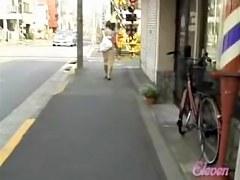 Steady following her ass and finally skirt sharking it