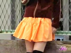 Her orange skirt was sharked by some total stranger