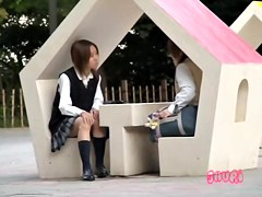 Two schoolgirls in the park got cumshot sharked by some guy