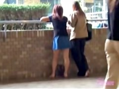 My girl in a blue skirt sharked by some guy while we talked