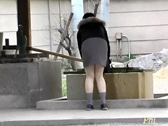Innocent Asian in a cute skirt get molested and street sharked.