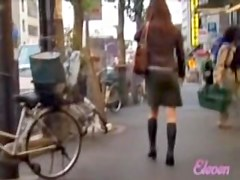Public girl could not run from the sharking lover