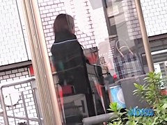 Girl in the phone booth got skirt sharked unexpectedly