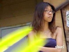 Cute Asian teen was unlucky to be boob sharked in public