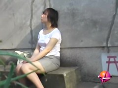 Asian babe's nipples showing from water in this sharking vid
