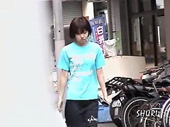 Japanese sharking video with an adorable skinny gal